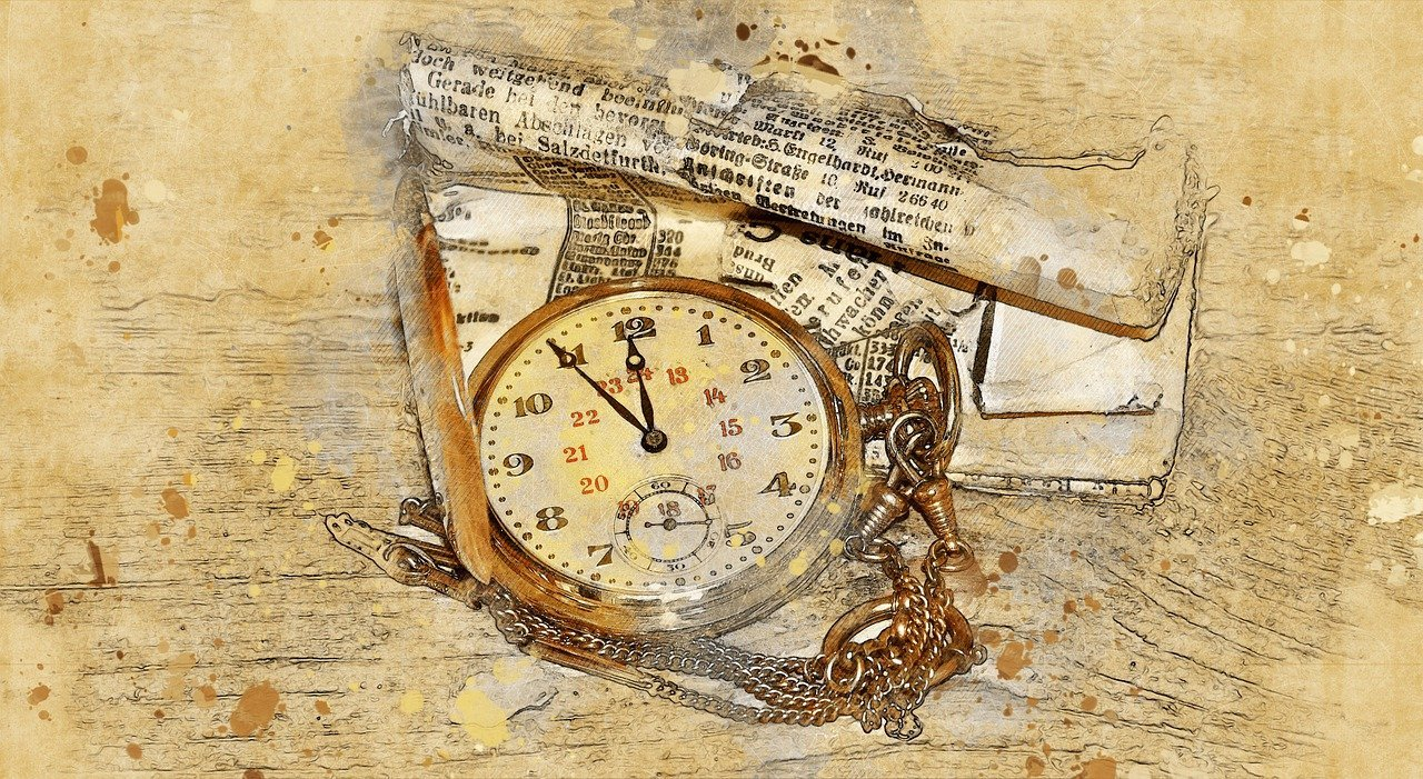 pocket watch, clock, gold